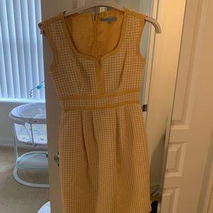 Antonio's Melani Yellow Checked Sheath Dress